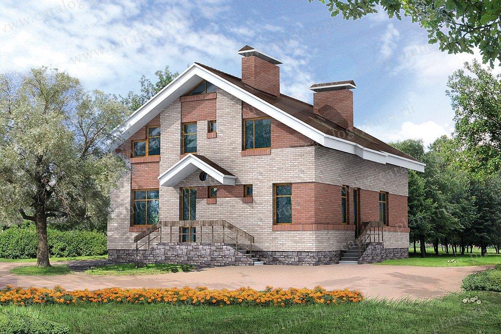 Проект жилой дом #32-40 материал - кирпич, стиль европейский