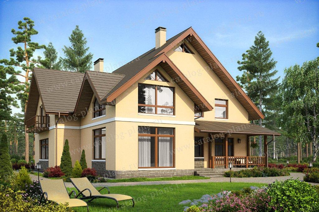 Проект жилой дом #40-18G материал - газобетон, стиль современный