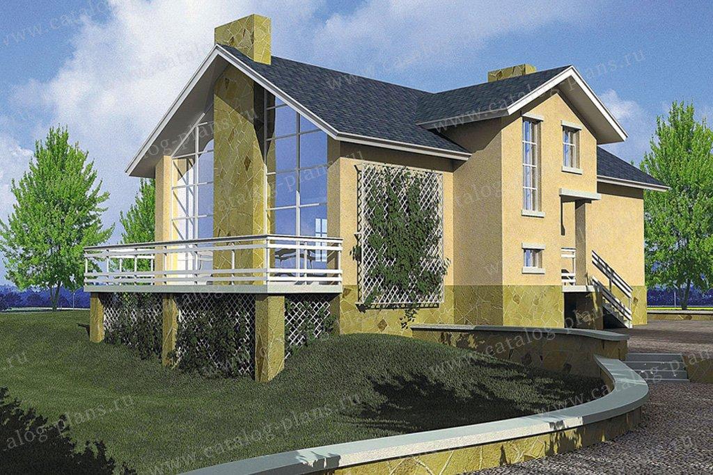 Проект жилой дом #32-51 материал - кирпич, стиль современный