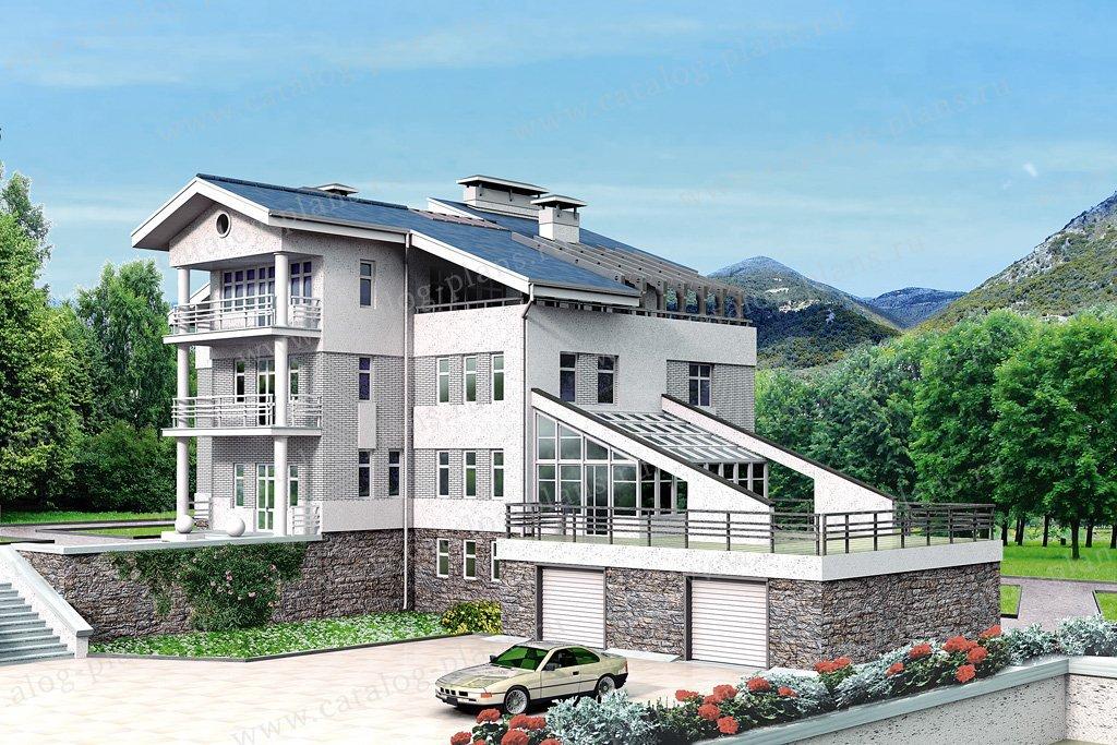 Проект жилой дом #32-46 материал - кирпич, стиль современный
