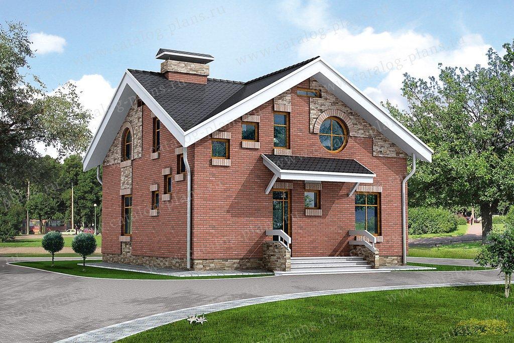 Проект жилой дом #32-37 материал - кирпич, стиль современный