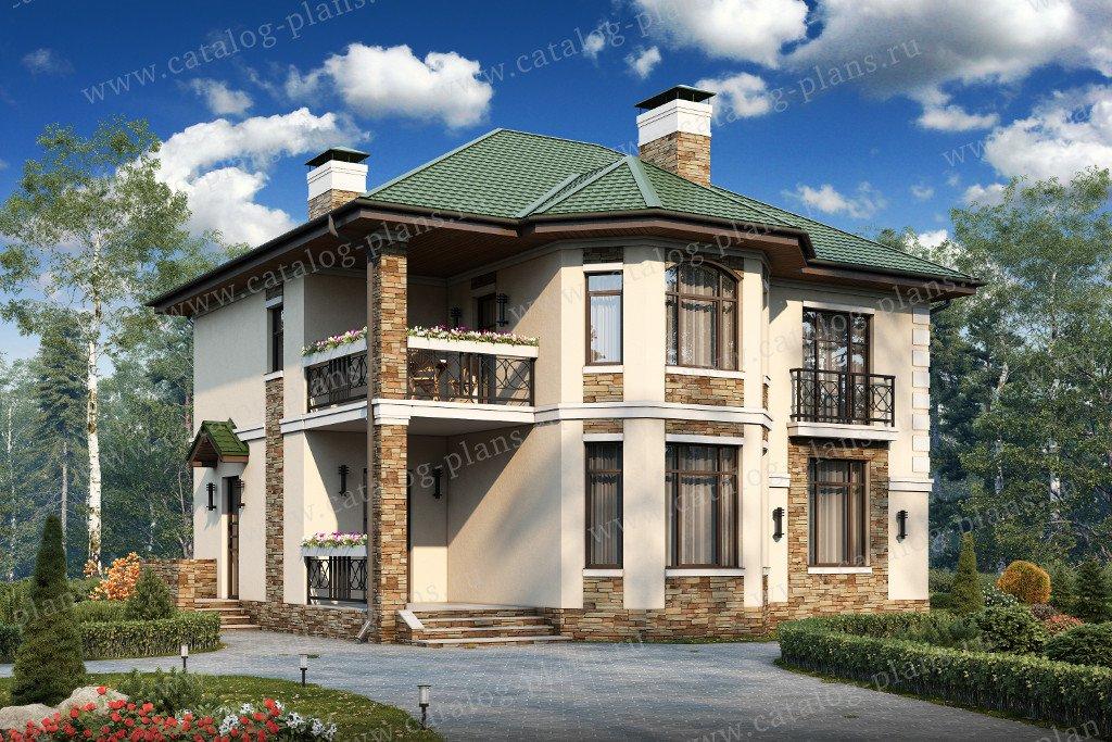 Проект жилой дом #40-12 материал - кирпич, стиль скандинавский