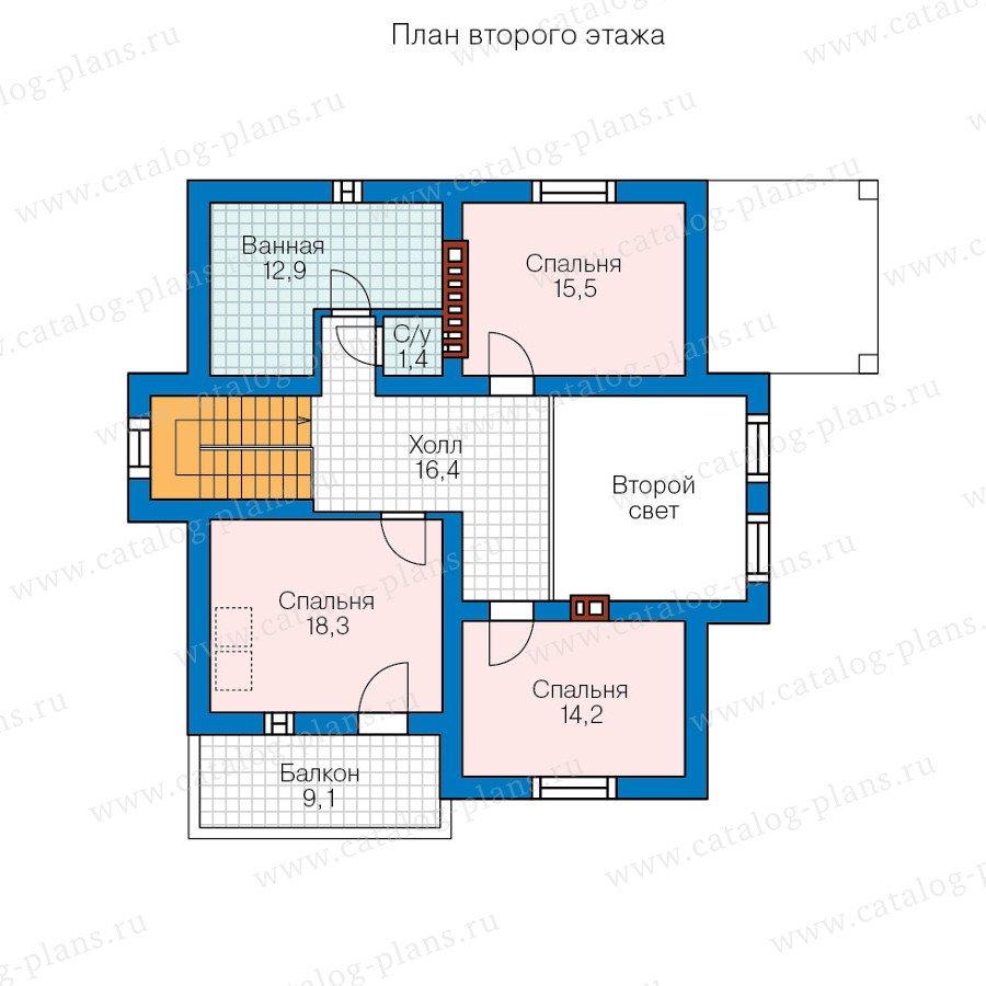 План 2-этажа проекта 57-00A