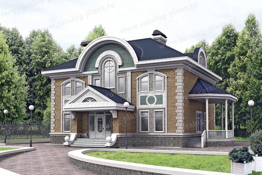 Проект жилой дом #32-67 материал - кирпич, стиль итальянский