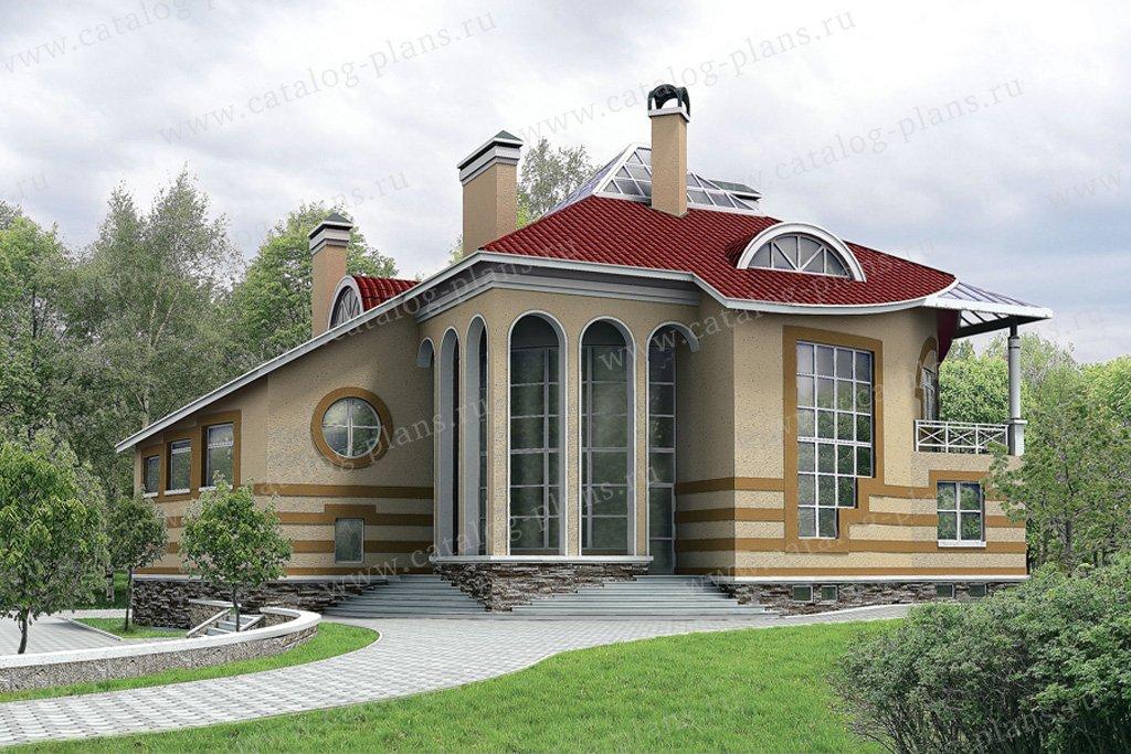 Проект жилой дом #32-71 материал - кирпич, стиль современный