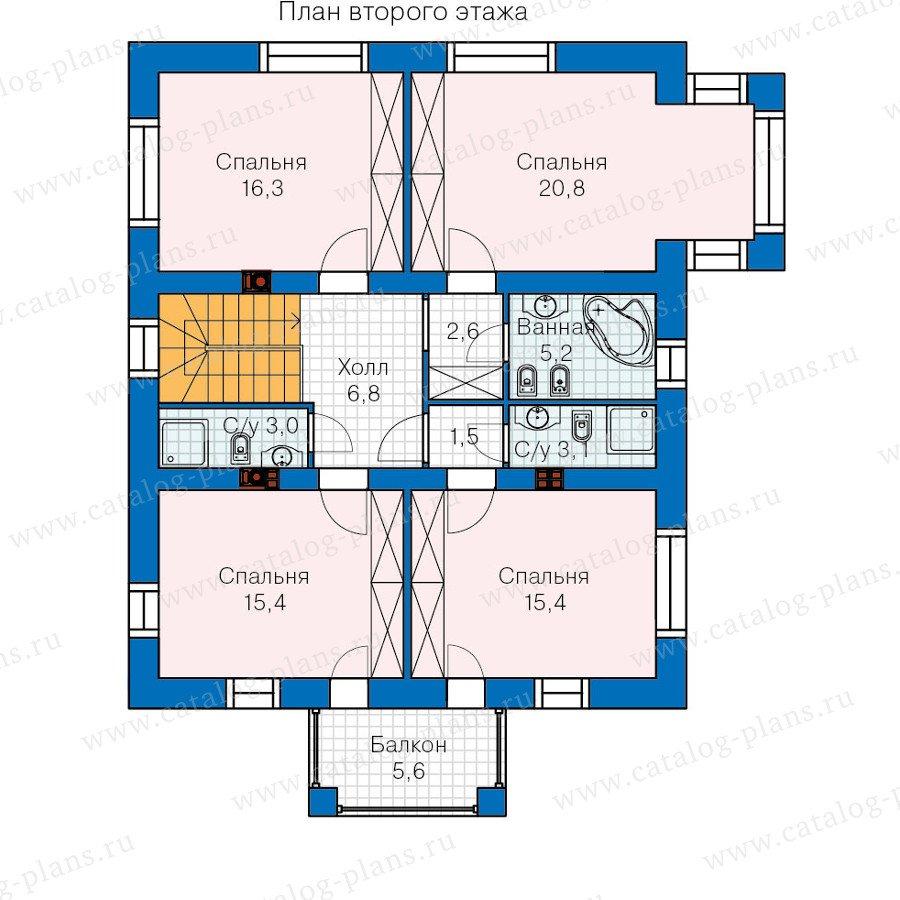План 2-этажа проекта 60-08