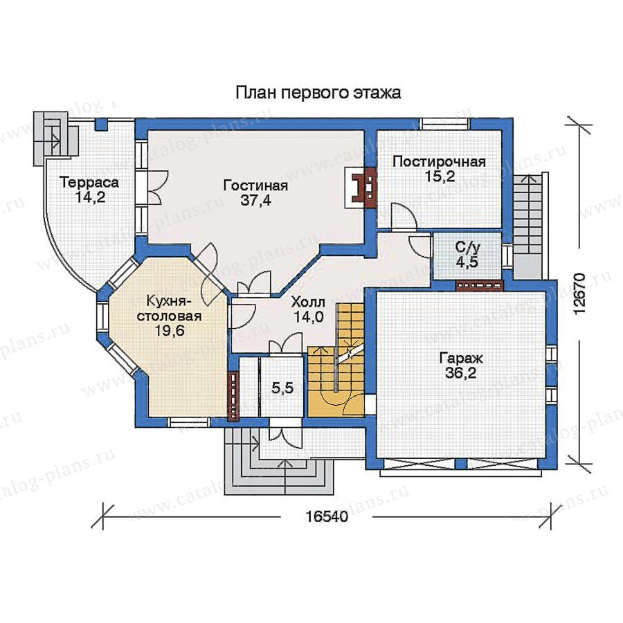 План 2-этажа проекта 32-82
