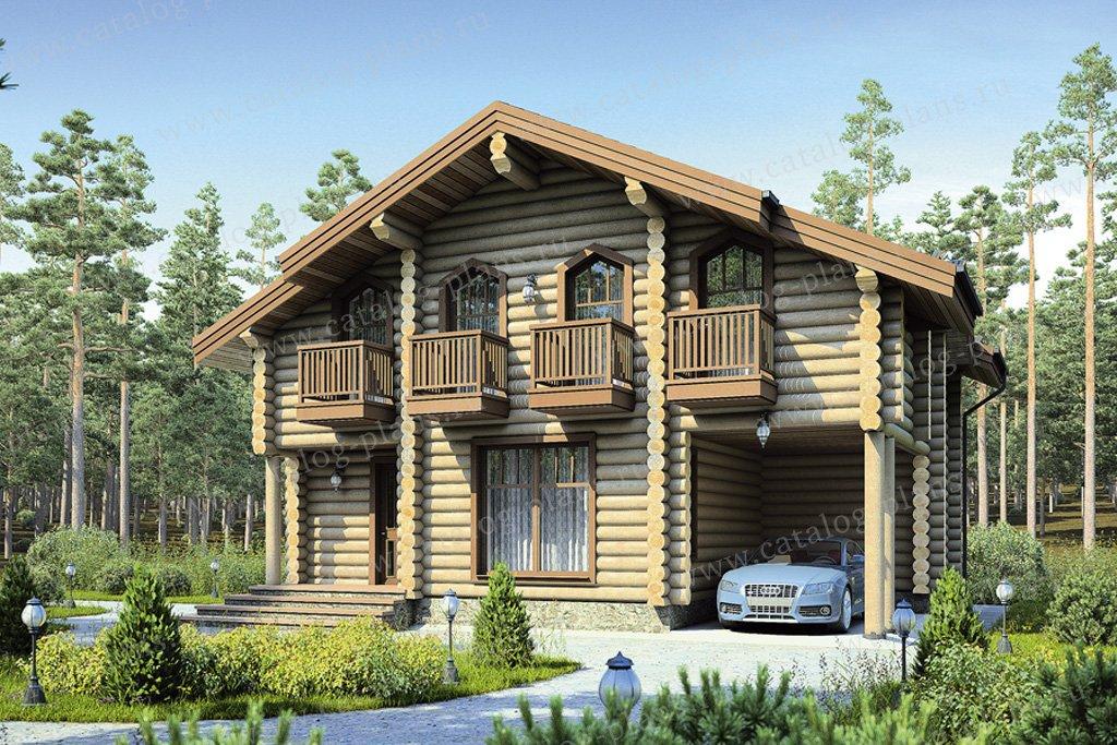 Проект жилой дом #12-30 материал - дерево, стиль скандинавский