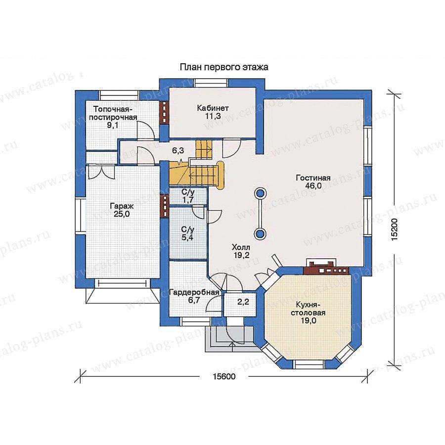 План 1-этажа проекта 32-96