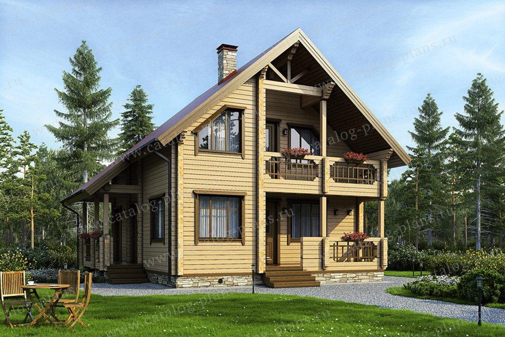 Проект жилой дом #12-11 материал - дерево, стиль скандинавский