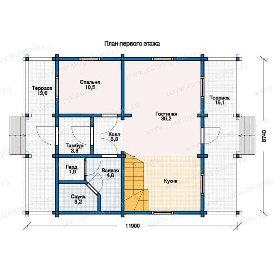План 1-этажа проекта 12-13