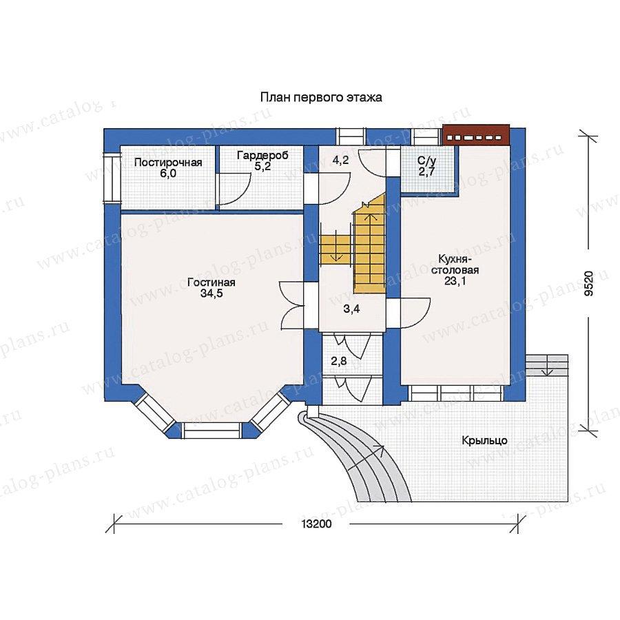План 1-этажа проекта 32-98