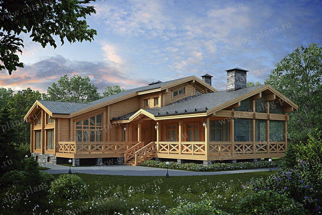 Проект жилой дом #12-40 материал - дерево, стиль шале