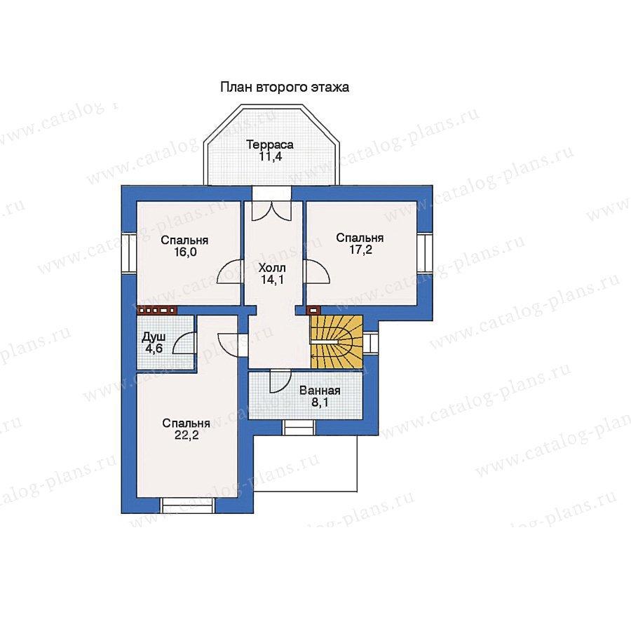 План 2-этажа проекта 32-62