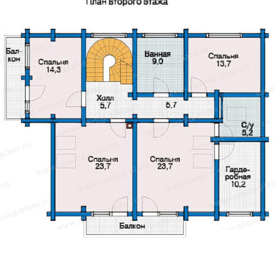 План 2-этажа проекта 12-01