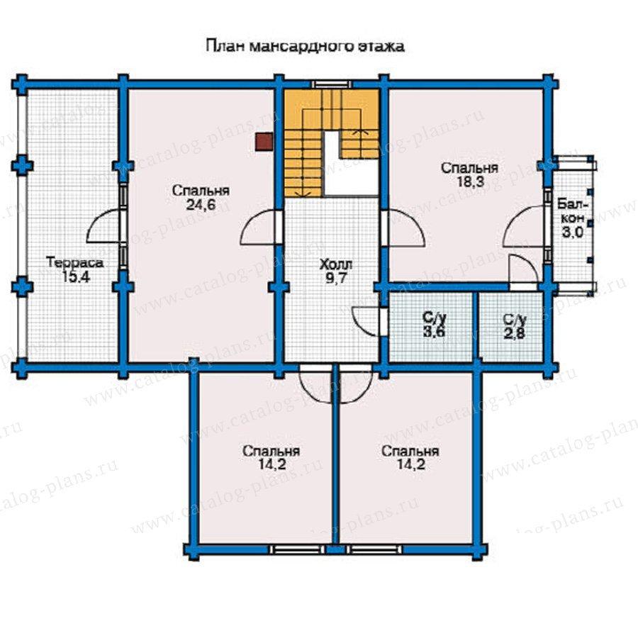 План 2-этажа проекта 12-17