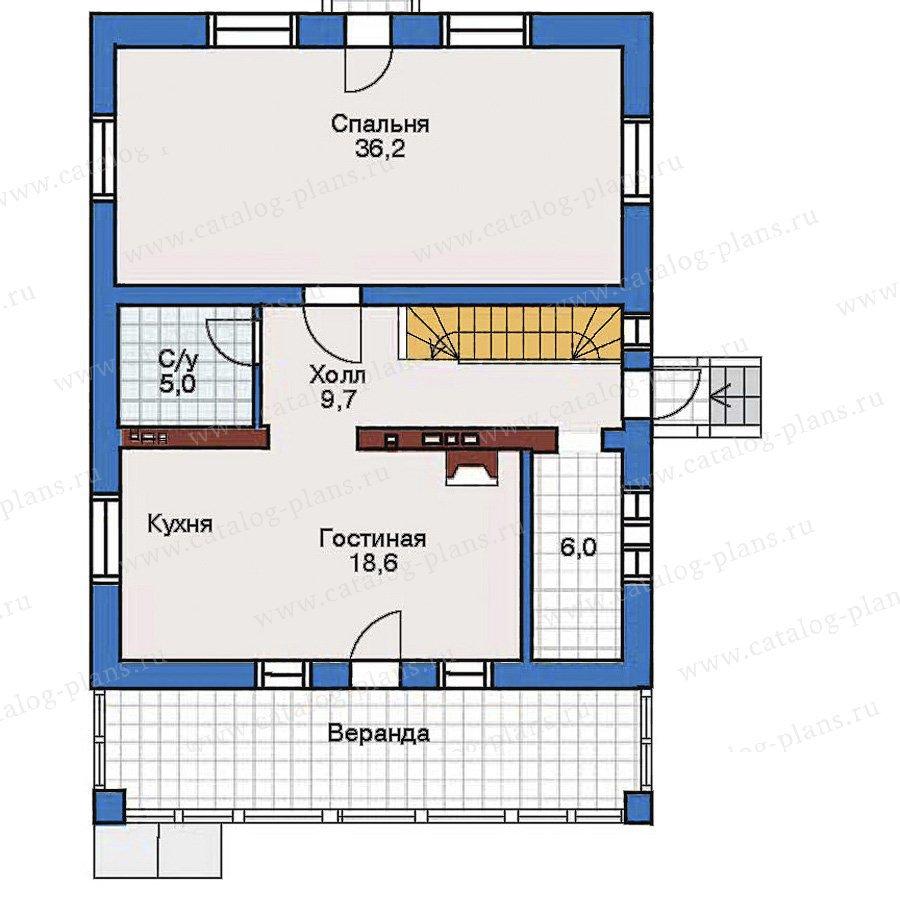 План 2-этажа проекта 32-52