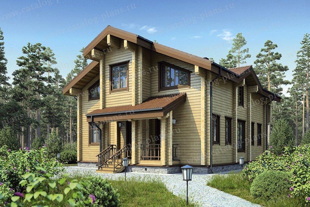 Проект жилой дом #12-34 материал - дерево, стиль скандинавский
