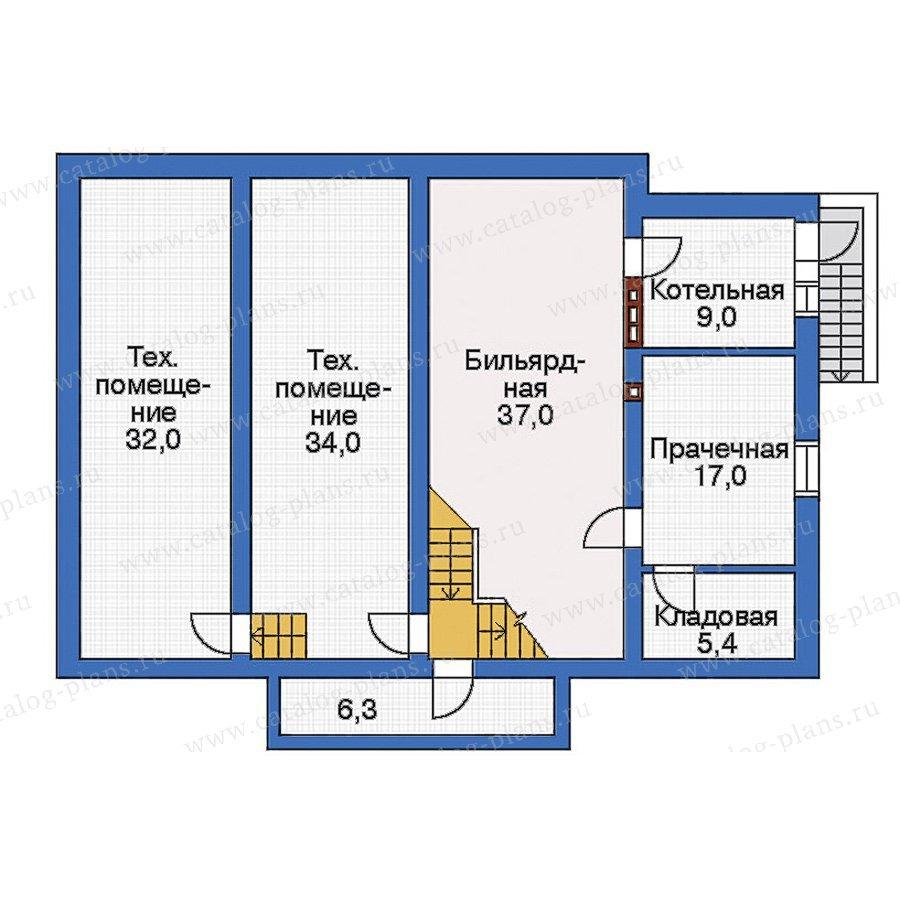 План 1-этажа проекта 32-80