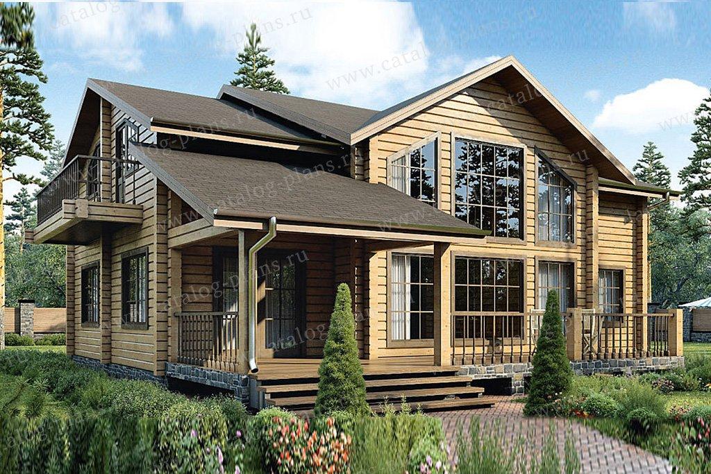 Проект жилой дом #12-53 материал - дерево, стиль современный