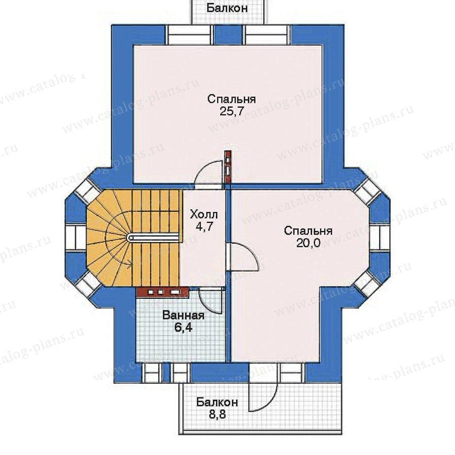 План 2-этажа проекта 32-43