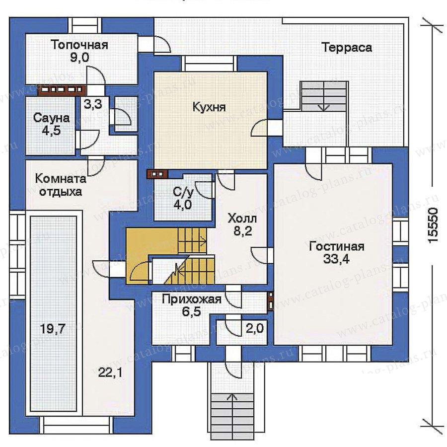 План 2-этажа проекта 32-79