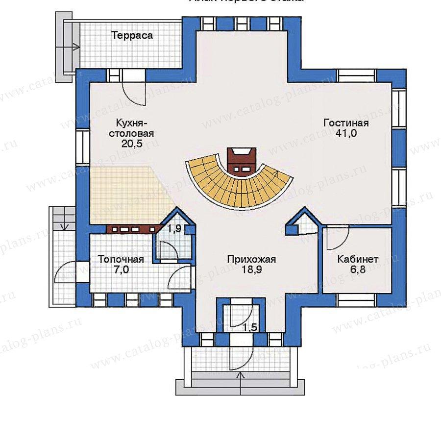 План 1-этажа проекта 32-39