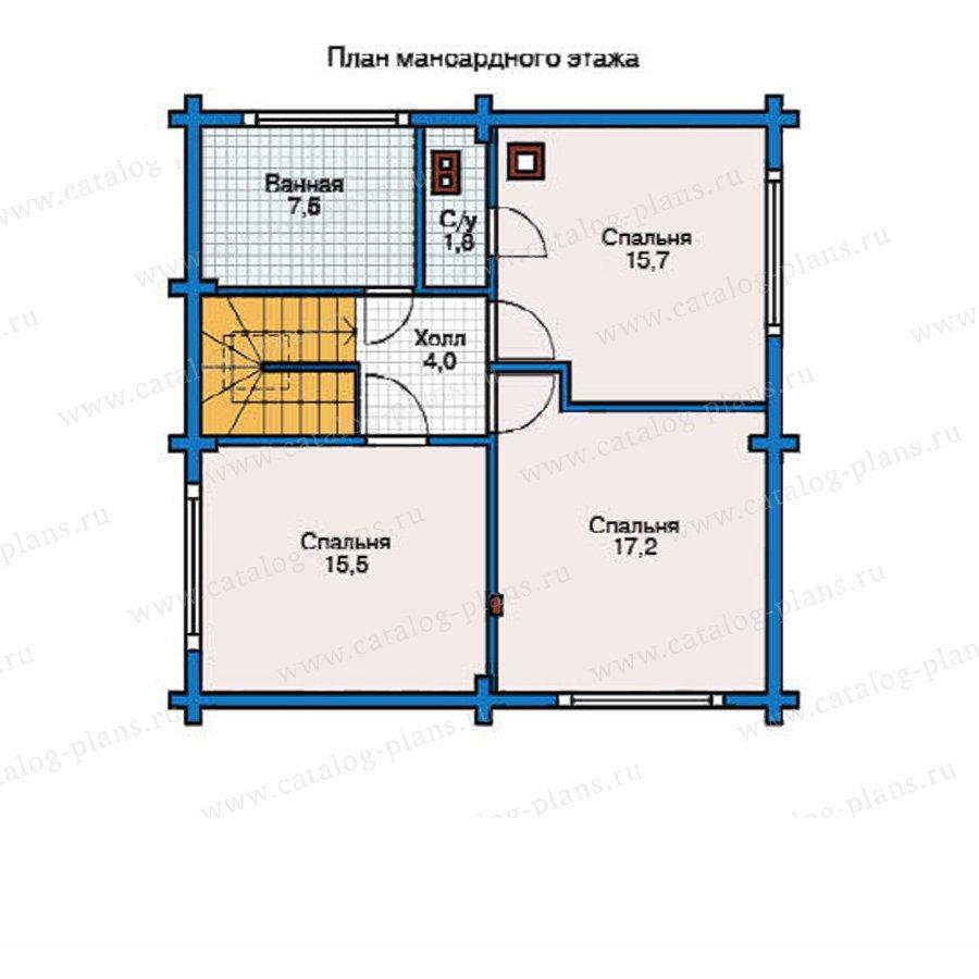План 2-этажа проекта 12-22
