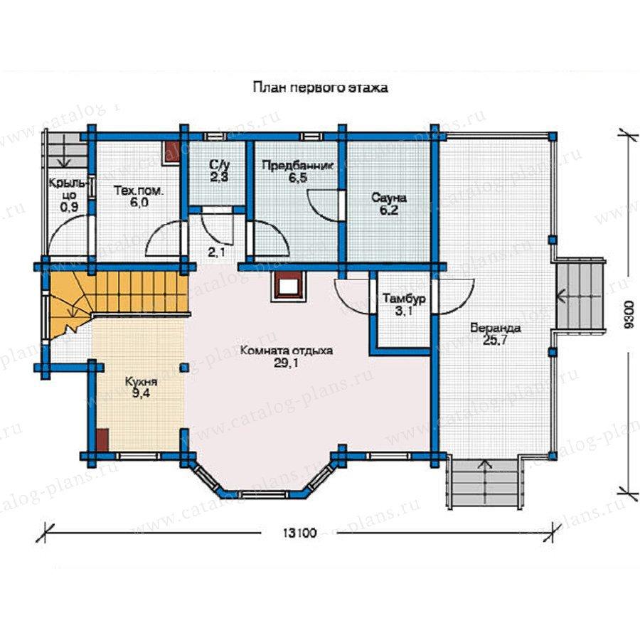 План 1-этажа проекта 12-12