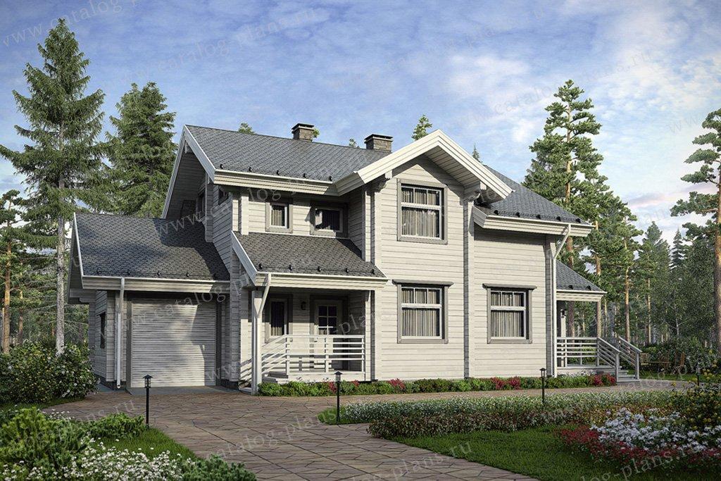 Проект жилой дом #12-42 материал - дерево, стиль европейский
