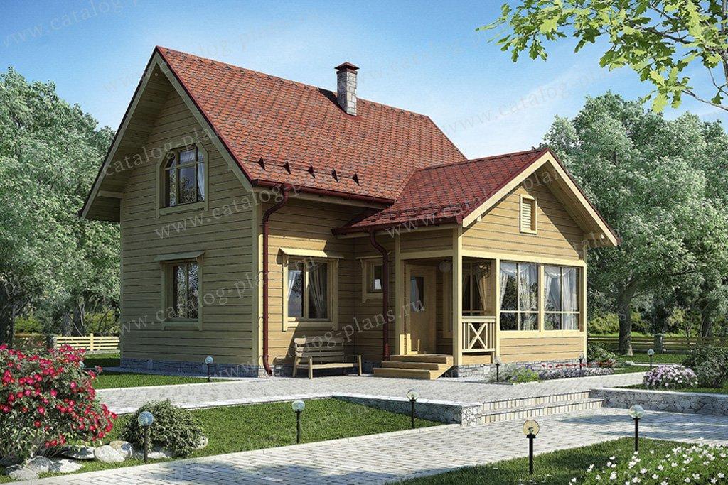 Проект жилой дом #12-26 материал - дерево, стиль европейский