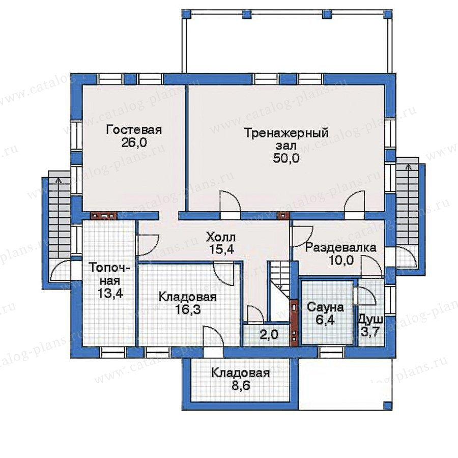 План 1-этажа проекта 32-55