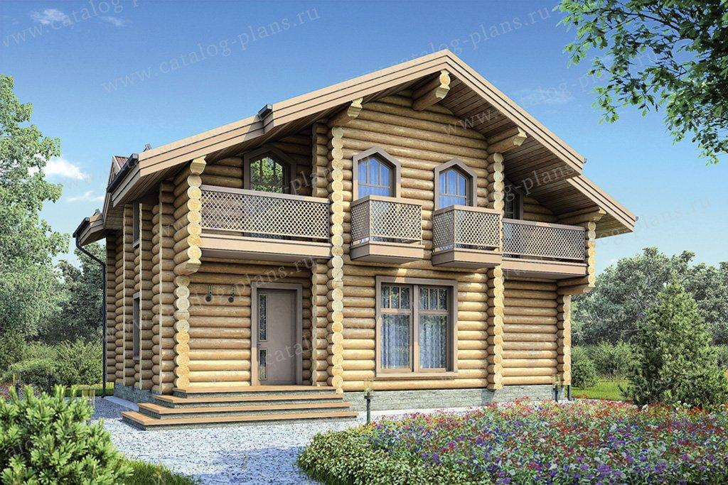 Проект жилой дом #12-31 материал - дерево, стиль скандинавский