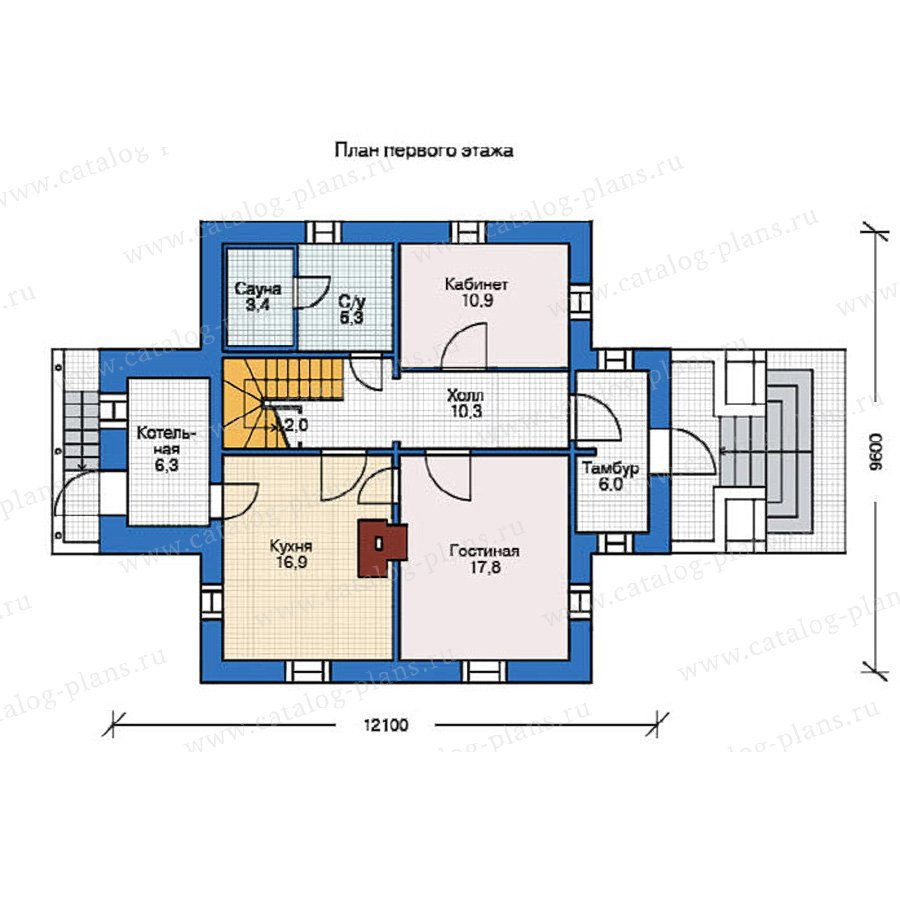 План 1-этажа проекта 12-16