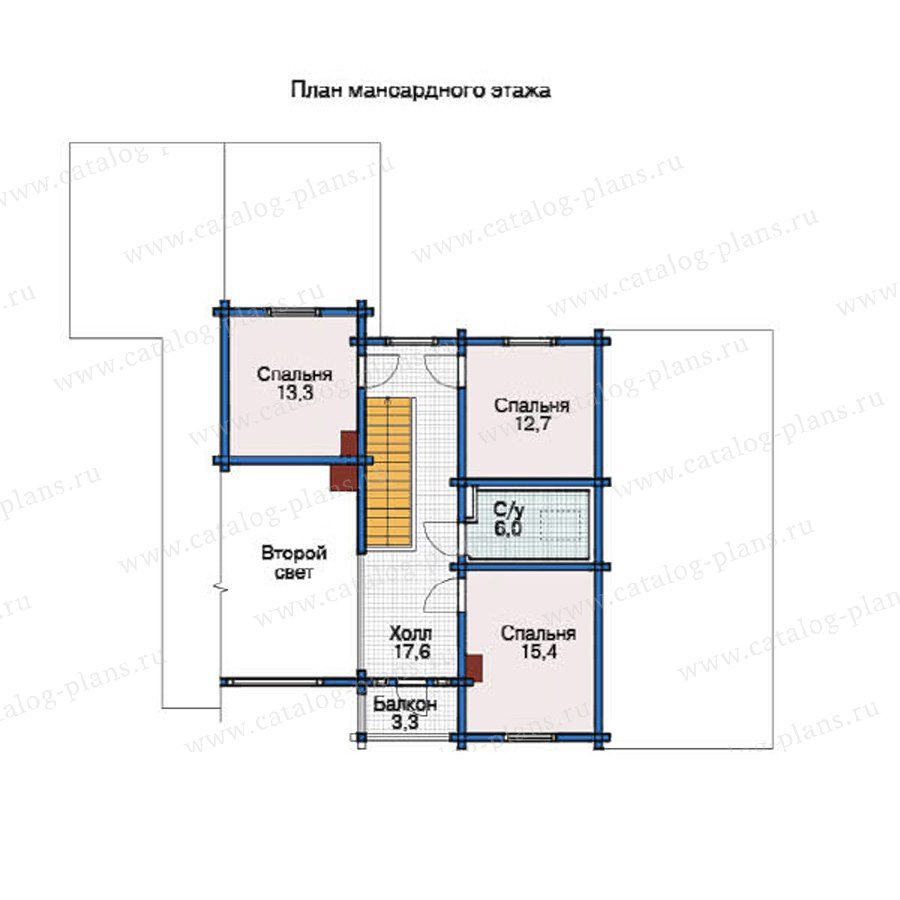 План 2-этажа проекта 12-03
