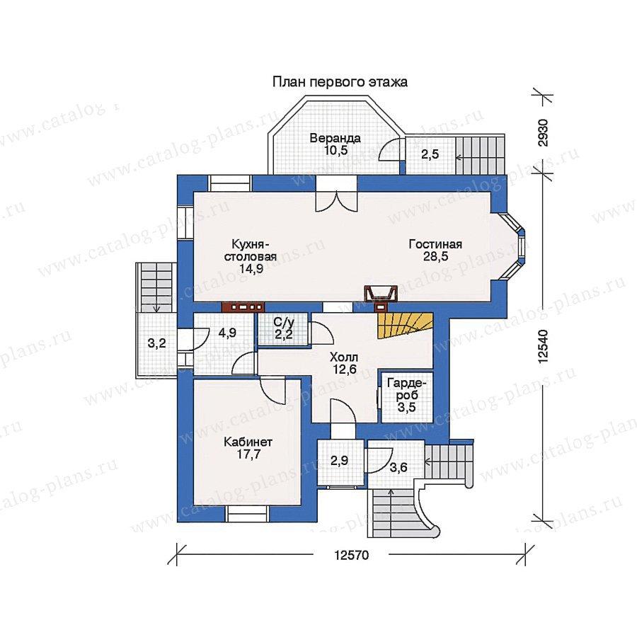 План 1-этажа проекта 32-62