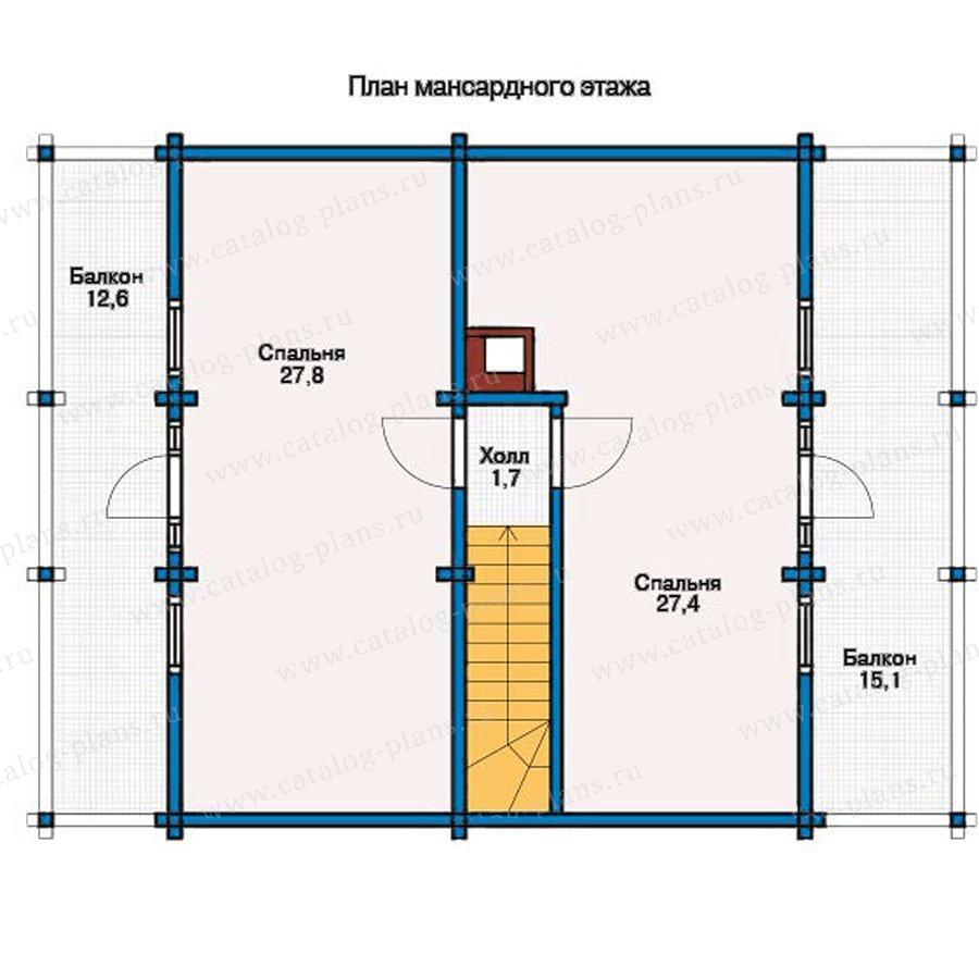 План 2-этажа проекта 12-13