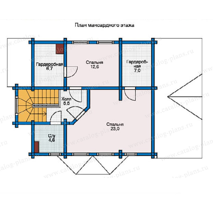 План 2-этажа проекта 12-12