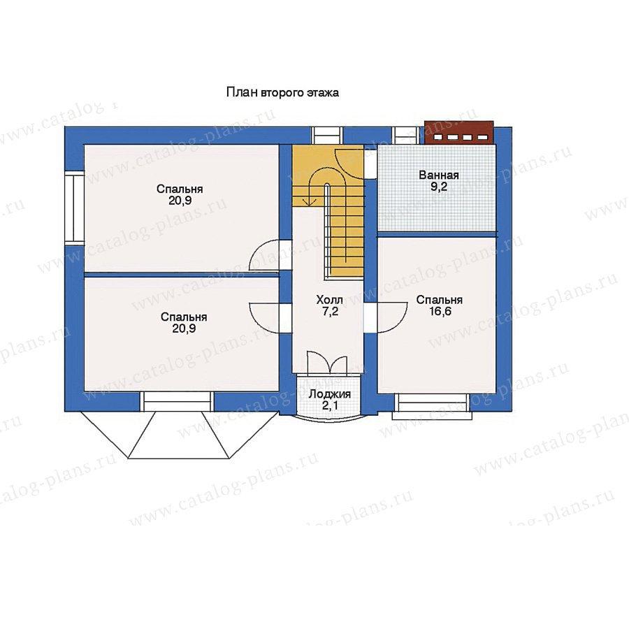 План 2-этажа проекта 32-98