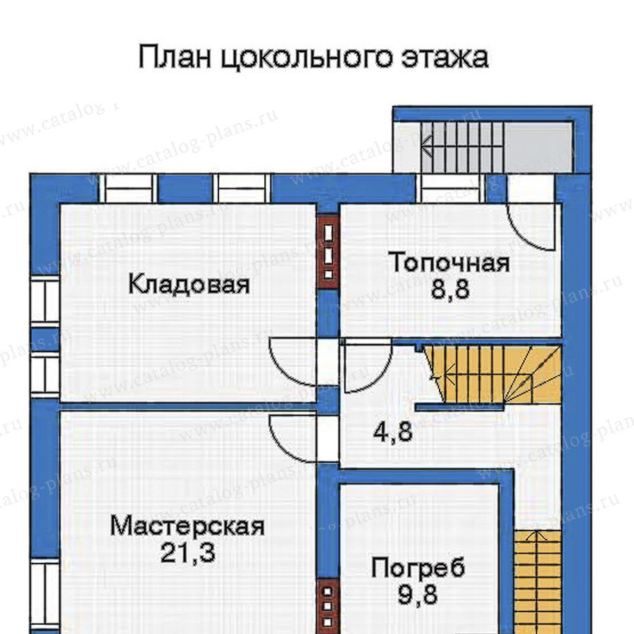 План 1-этажа проекта 32-95
