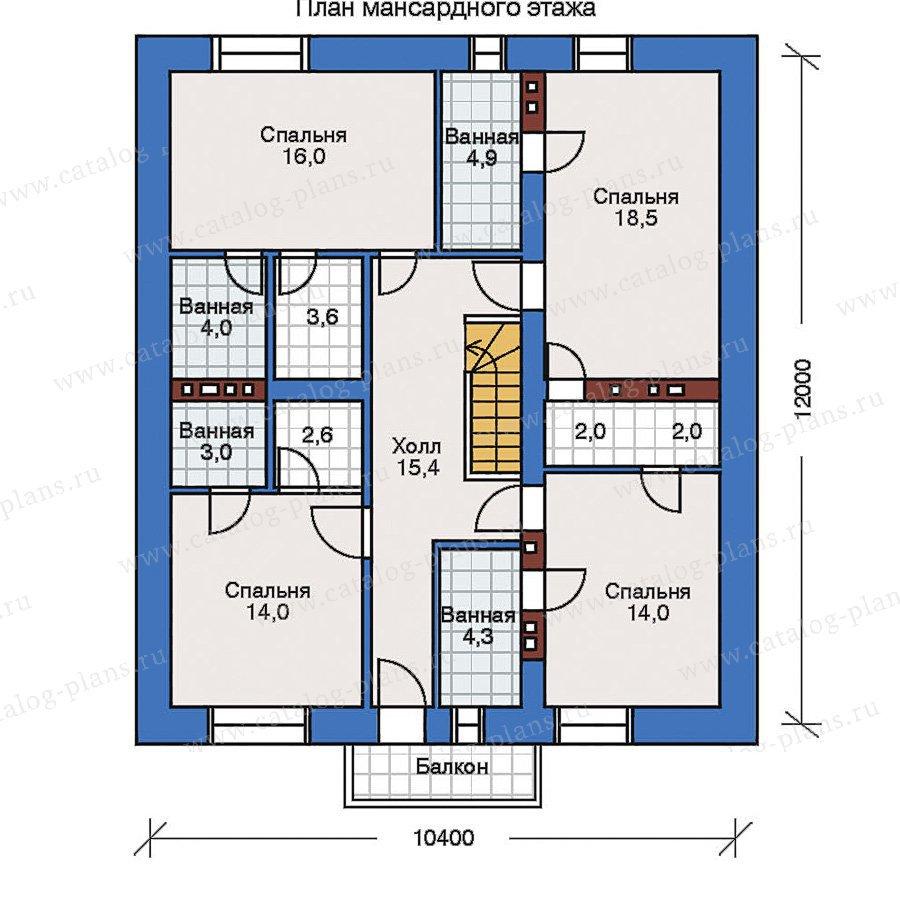 План 2-этажа проекта 32-40