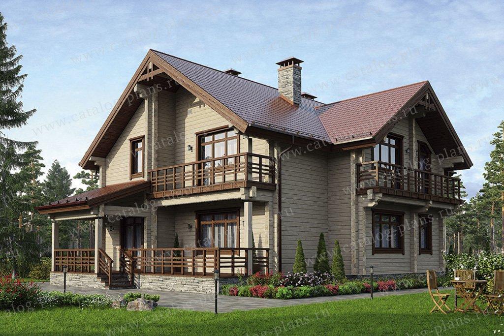 Проект жилой дом #12-60 материал - дерево, стиль скандинавский