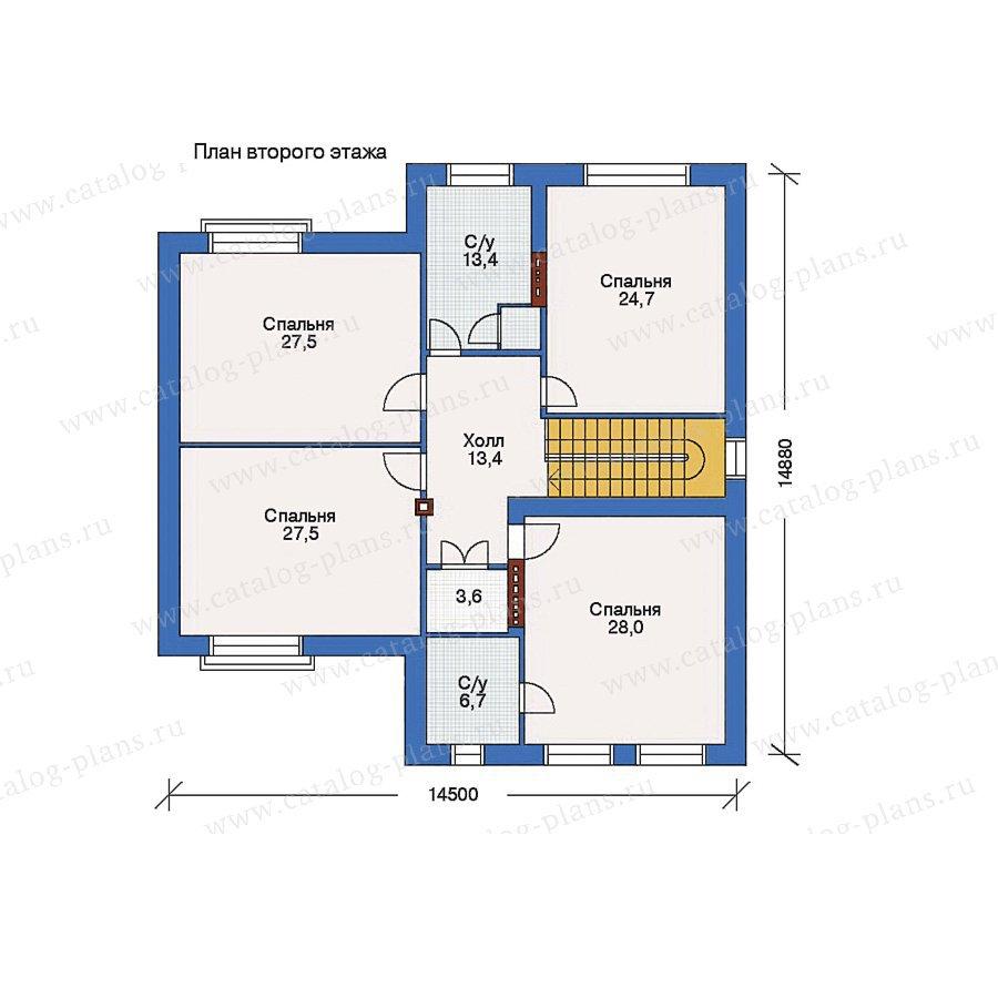 План 2-этажа проекта 32-83
