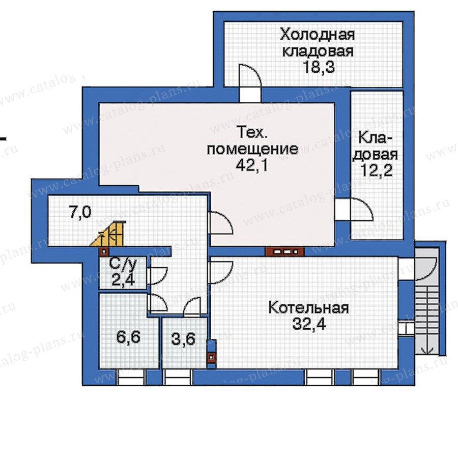 План 1-этажа проекта 32-90