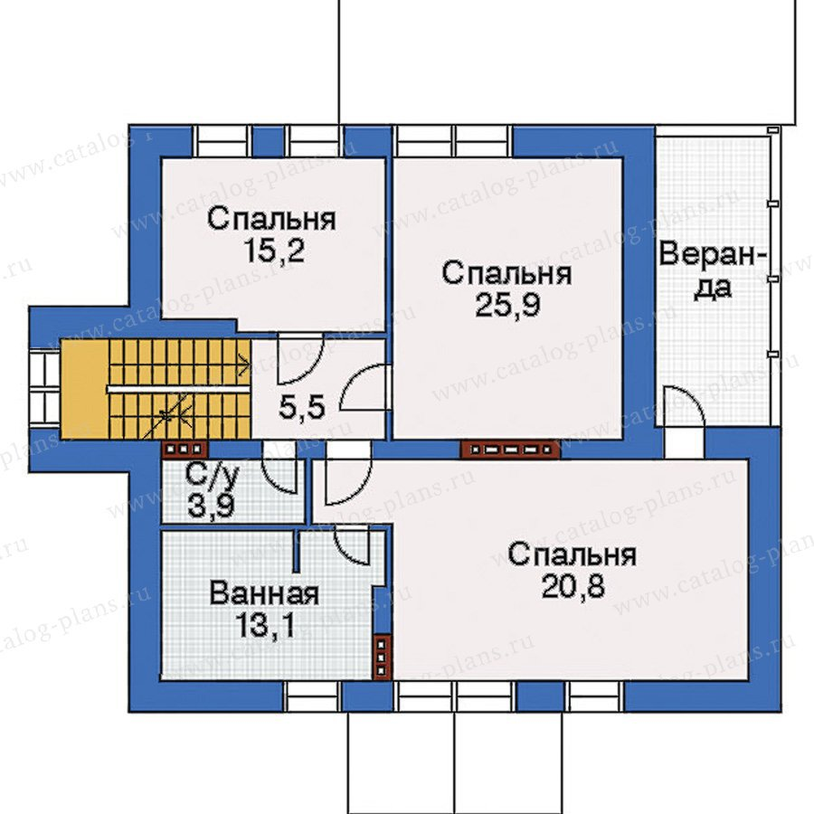 План 3-этажа проекта 32-90