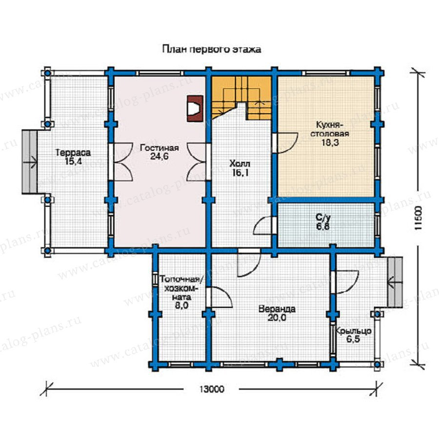 План 1-этажа проекта 12-17