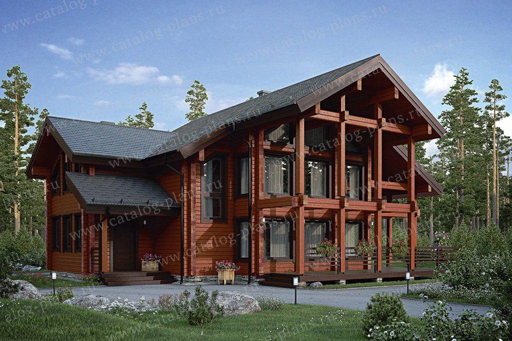 Проект жилой дом #12-44 материал - дерево, стиль современный