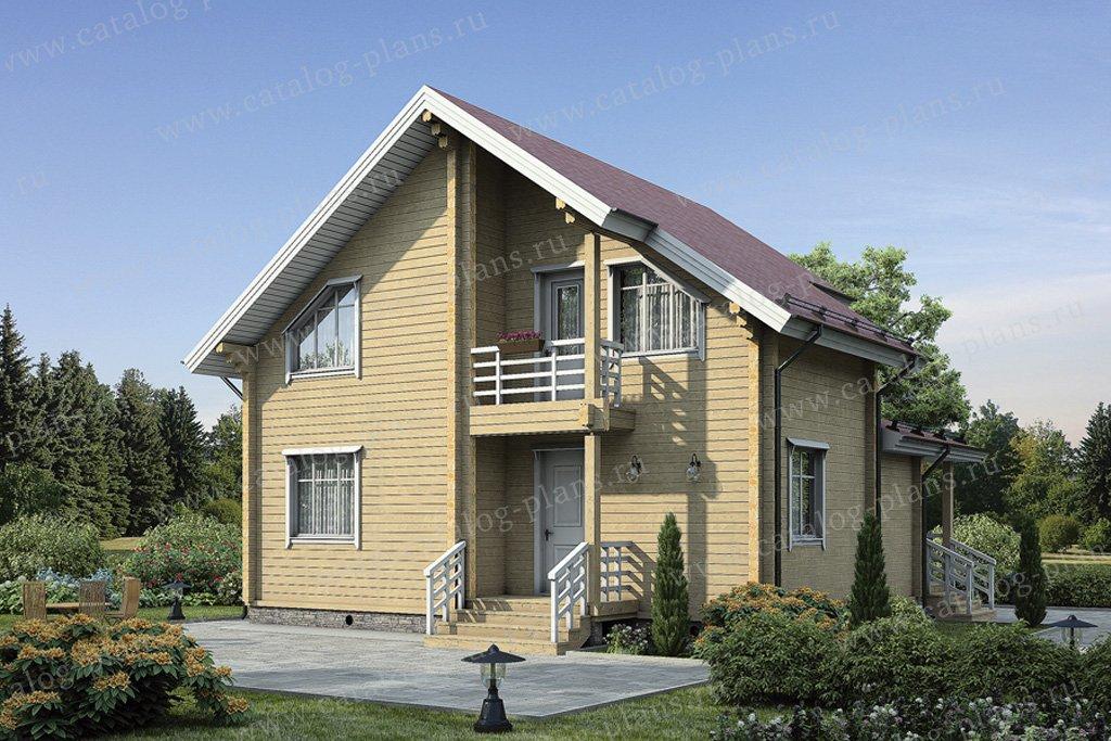 Проект жилой дом #12-10 материал - дерево, стиль современный
