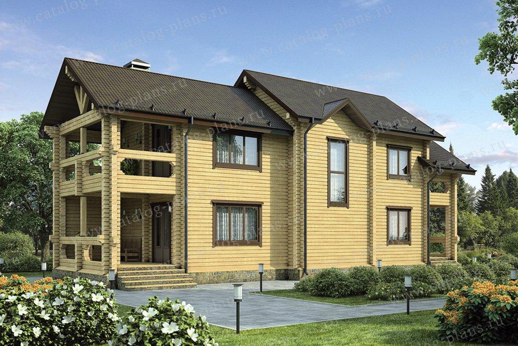 Проект жилой дом #12-09 материал - дерево, стиль европейский