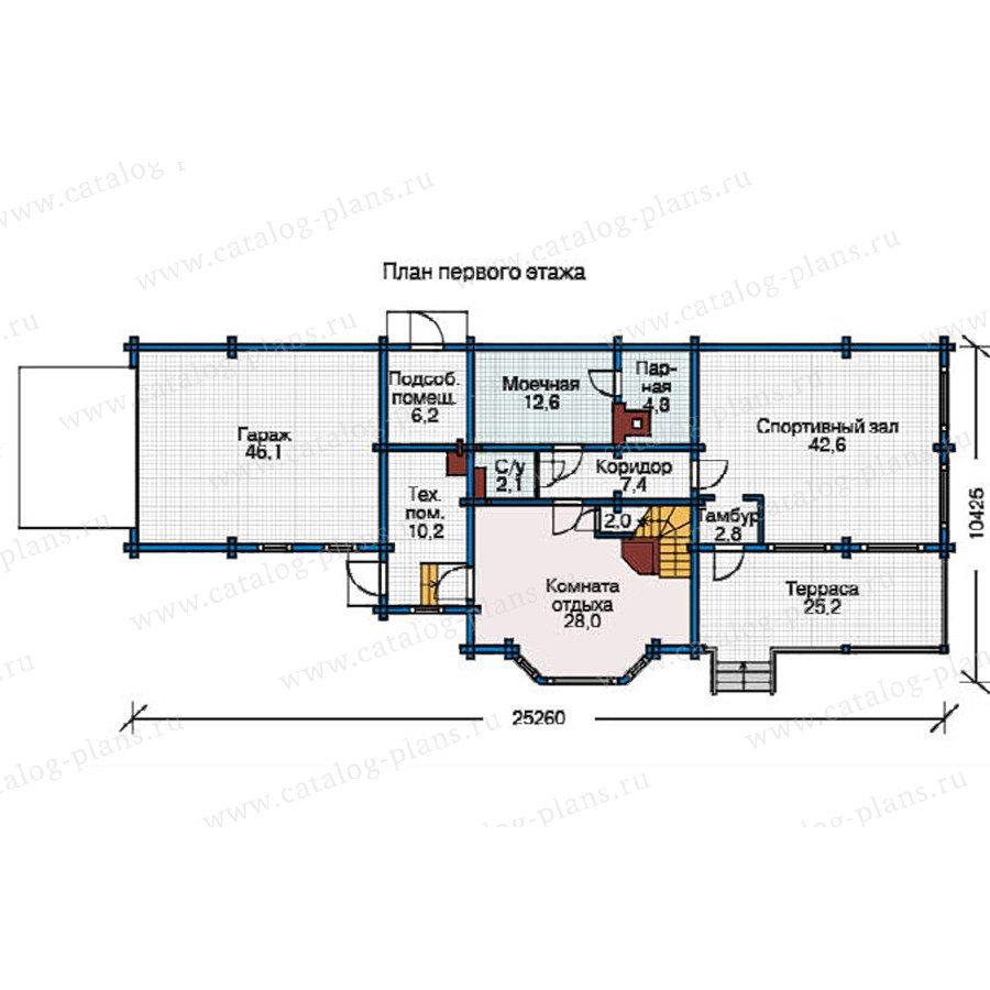 План 1-этажа проекта 12-14